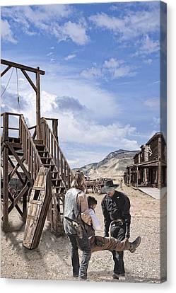 Wild Wild West_3 Canvas Print by Wendy White