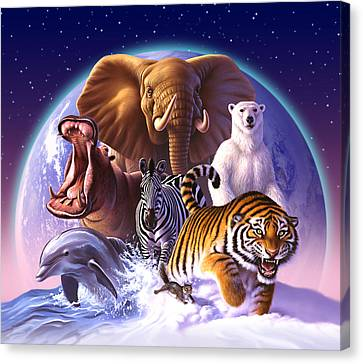 Wild World Canvas Print by Jerry LoFaro
