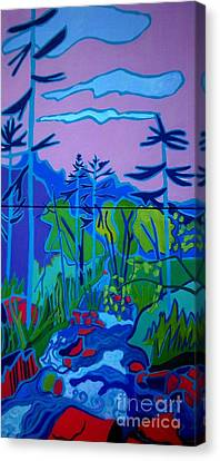 Wildcat River Jackson Nh Canvas Print by Debra Bretton Robinson