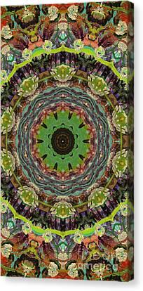 Wilder Flower Mandala Canvas Print by Sandra Gallegos