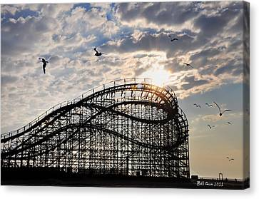Wildwood Roller Coaster Canvas Print by Bill Cannon