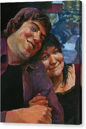 Will And Britta Canvas Print by Robert Bissett