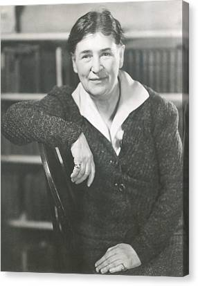 Willa Cather At The Time She Wrote Lucy Canvas Print by Everett