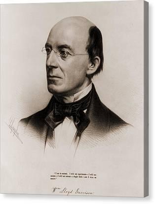 William Lloyd Garrison 1805-1879 Joined Canvas Print by Everett