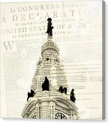 William Penn City Hall Canvas Print by Brandi Fitzgerald