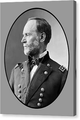 William Tecumseh Sherman Canvas Print by War Is Hell Store