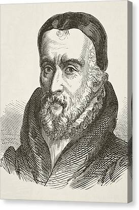 William Tyndale 1494 To 1536 Bible Canvas Print by Vintage Design Pics