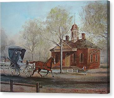 Williamsburg Courthouse Canvas Print by Charles Roy Smith