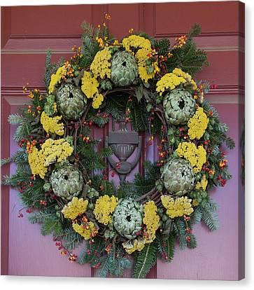 Williamsburg Wreath 65 Canvas Print by Teresa Mucha