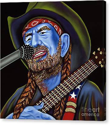 Willie Canvas Print by Nannette Harris