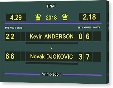 Wimbledon Scoreboard - Customizable Canvas Print by Carlos Vieira