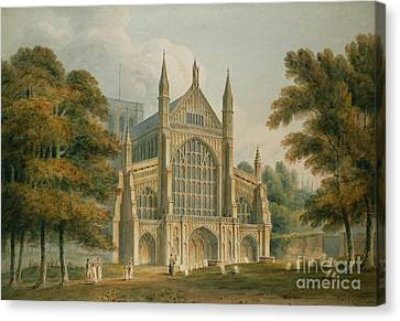 Winchester Cathedral Canvas Print by John Buckler