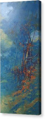 Wind Earth And Water Abstract Canvas Print by Donna Shortt