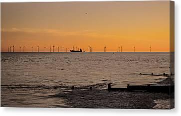 Wind Farm Canvas Print by Martin Newman