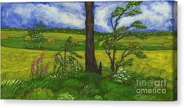 Wind Over The Fields Canvas Print by Anna Folkartanna Maciejewska-Dyba