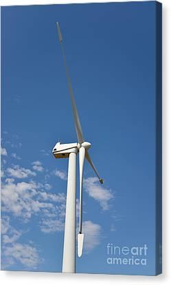 Wind Turbine Canvas Print by George Atsametakis