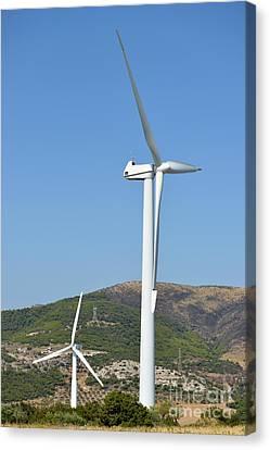 Wind Turbines Canvas Print by George Atsametakis