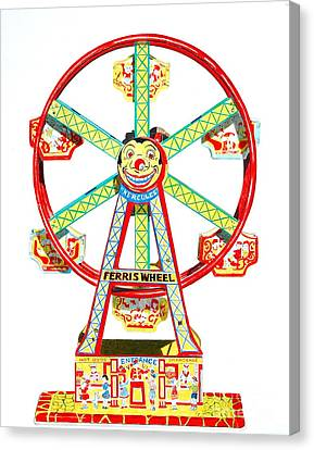 Wind-up Ferris Wheel Canvas Print by Glenda Zuckerman