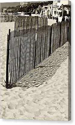 Windbreake On The Beach 2 Canvas Print by Micah May