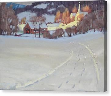 Winding Road Canvas Print by Len Stomski