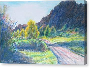 Winding Roads Canvas Print by Stephanie  Skeem