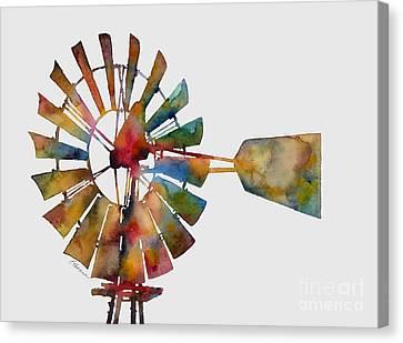 Windmill Canvas Print by Hailey E Herrera