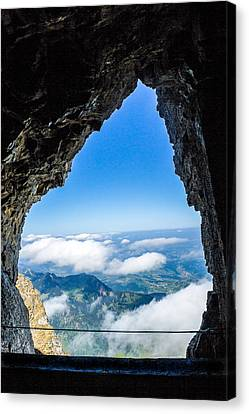Window From Mt. Pilatus Canvas Print by Lisa Lemmons-Powers