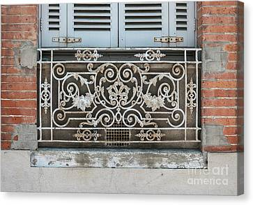 Window In Toulouse Canvas Print by Elena Elisseeva