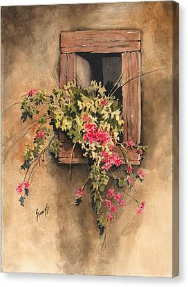 Window Niche Canvas Print by Sam Sidders