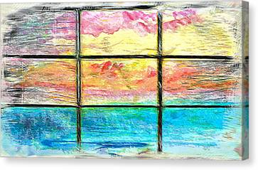 Window Scene Abstract Canvas Print by Tom Gowanlock