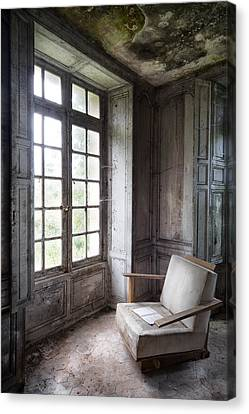 Window Seat - Abandoned Building Canvas Print by Dirk Ercken