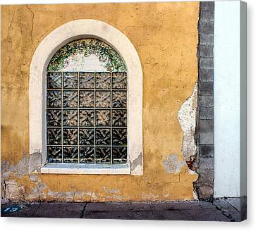 Window - Teatro Carmen - Tucson Canvas Print by Nikolyn McDonald