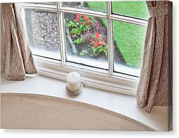 Window View Canvas Print by Tom Gowanlock