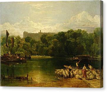 Windsor Castle From The Thames Canvas Print by Joseph Mallord William Turner
