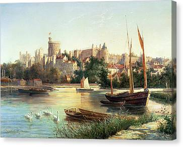 Windsor From The Thames   Canvas Print by Robert W Marshall