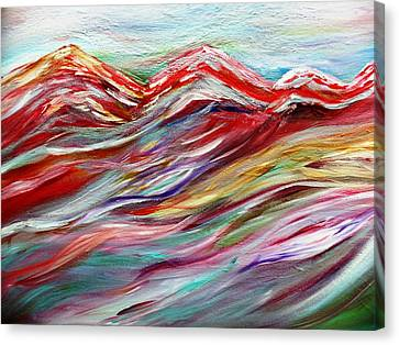 Windy Mountain Day Canvas Print by Amy Drago