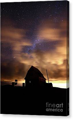 Windy Night At Mt Chacaltaya Canvas Print by James Brunker