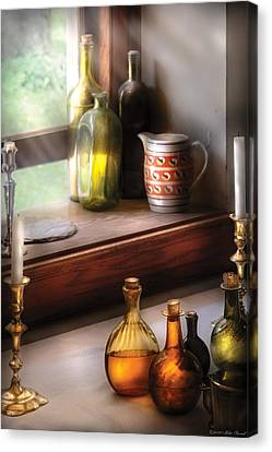 Wine - Care For A Nip Canvas Print by Mike Savad