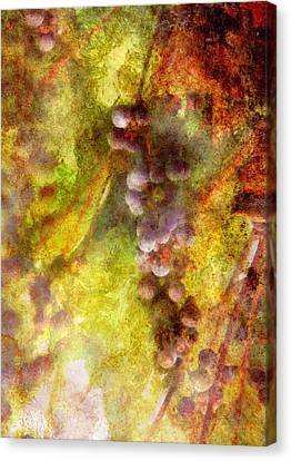 Wine - Grapes Canvas Print by Mike Savad