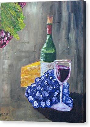 Wine And Cheese Canvas Print by Craig Wade