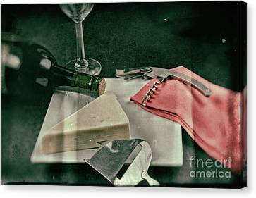 Wine And Cheese Canvas Print by Jimmy Ostgard