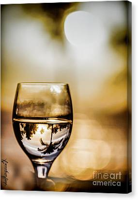 Wine And Sunset Canvas Print by  rdm-Margaux Dreamations