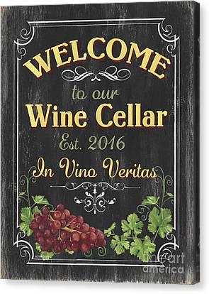 Wine Cellar Sign 1 Canvas Print by Debbie DeWitt