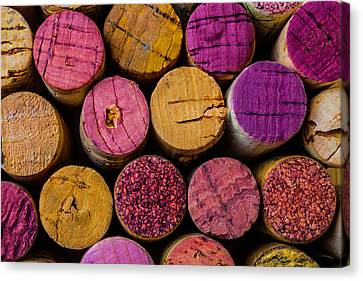 Wine Corks Close Up Canvas Print by Garry Gay