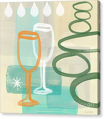 Wine For Two Canvas Print by Linda Woods