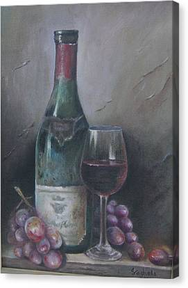 Wine Glass Canvas Print by Illa Vaghela