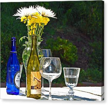 Wine Me Up Canvas Print by Debbi Granruth