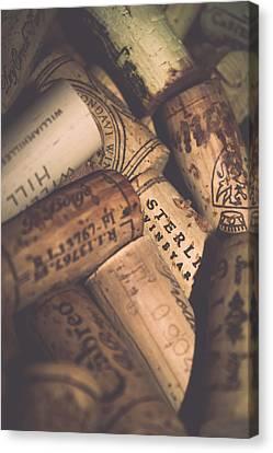 Wine Tasting - Corks Canvas Print by Colleen Kammerer