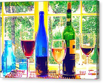 Wine Tasting Canvas Print by Margaret Hood