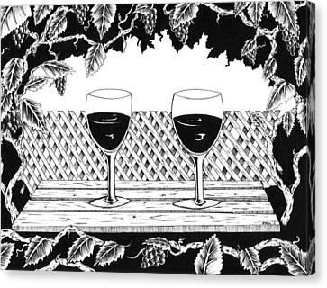 Wine Time Canvas Print by Bob Veon